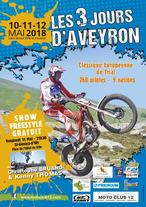 Affiche des 3 jours d'Aveyron 2018